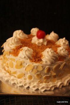 Butter Scotch flavoured eggless cake – Veenas Vegnation