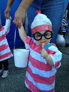 Where's Waldo toddler costume self-made!