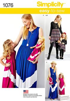 Mommy Me and Dolly Dress Pattern Simplicity Pattern by blue510