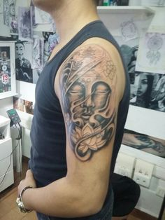 Buda en proceso por Diego Alejandro Tattoo