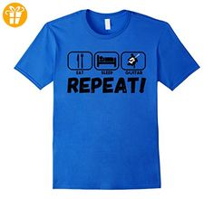 Funny Guitar T Shirts for Men: Eat Sleep Guitar Repeat Tee Herren, Größe M Königsblau (*Partner-Link)