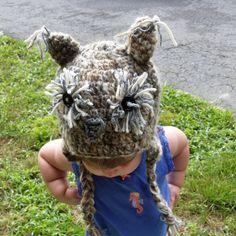Fuzzy owl hat by KissedbytheMoonB on Etsy