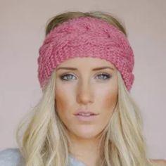 New crocheted headband earmuffs ear warmer New crocheted ear warmers rose pink colored Accessories Hair Accessories