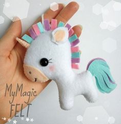 Cute Unicorn felt ornament unicorn Christmas by MyMagicFelt