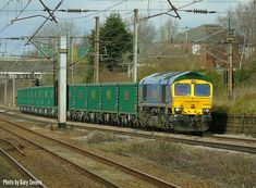 Class 66 623 heads south through Leyland with the Hardendale to Tunstead service , Tuesday March 2018 . Photo by Gary Severn . Electric Locomotive, Diesel Locomotive, North West, Trains, Tuesday, March, British, Image, Train
