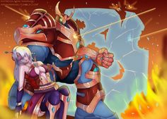 Paladins Overwatch, Paladins Game, Paladins Champions, Wallpaper Backgrounds, Geek Stuff, Fan Art, Superhero, Drawings, Pictures