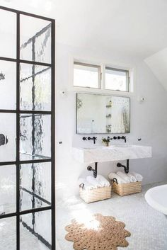 best faucets white bathroom with sisal rug
