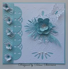 images of marianne dies galley | Selma's Stamping Corner: Aqua and White Flowers