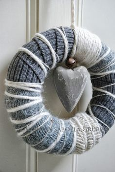 The White Bench: Woolen Wreaths and Re- Launching my Handmade Shop!