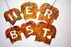 "Fünf-Minuten-DIY: ""Herbst""-Blätter - ""Fee ist mein Name"" // Five minute DIY: Cut out fall leaves"