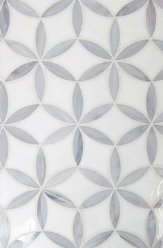 Glass mosaic - Elliptical Flowers are a subtle way to add pattern to a shower or. Glass mosaic - Elliptical Flowers are a subtle way to add pattern to a shower or tub surround. Create with soft colors as shown or more dramatic. Modern Bathroom Tile, Kitchen Wall Tiles, Room Tiles, Bathroom Floor Tiles, Kitchen Backsplash, Wall Tiles For Hall, Shower Floor Tile, Bathroom Marble, Marble Bath