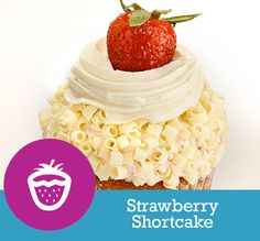 Strawberry Bits Filling: Strawberry Whipped Cream Topping: Strawberry ...