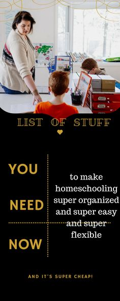 easy shopping list to prep your space for homeschooling