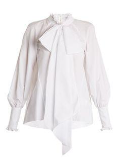 Isabelle ruffle-trimmed cotton-poplin blouse  | Erdem | MATCHESFASHION.COM
