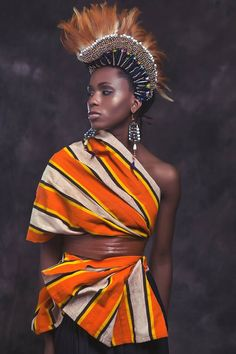This stunning wearable art is inspired by African royalty - CNN Style Designer Anita Quansah's creations are worn by celebrities like Alicia Keys, Keisha Buchanan and Thandie Newton African Inspired Fashion, African Print Fashion, Africa Fashion, Fashion Prints, Fashion Design, African Prints, Fashion Styles, Fashion Ideas, Fashion Outfits