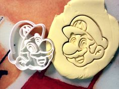 Super Mario Cookie Cutter great for cutting Bread by CookiePrints, $11.99