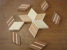 箱根 本間木工所 寄木細工体験教室 コースター in 2020 Barn Wood Crafts, Wooden Crafts, Wooden Clock, Wooden Art, Wood Wall Decor, Wood Wall Art, Diy Wooden Projects, Wooden Shapes, Wood Tools