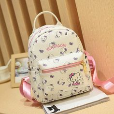 Cartton Backpack For Girls For School Leather Backpack Hello Kitty Children  Mini Backpack Travel Bags Women 455fc972cd