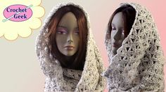 How to crochet Infinity Scarf Blossom Stitch. Crochet for Beginners. You can also modify to make an afghan, baby blanket, scarf or shawl. Crochet Hooded Cowl, Crochet Hoodie, Crochet Geek, Crochet Poncho, Cute Crochet, Crochet Scarves, Crochet Stitches, Flower Crochet, Ombre Yarn