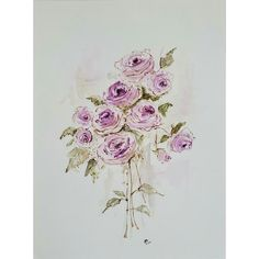 Shabby Home, Shabby Chic, Lilac Roses, Rose Art, Original Paintings, Creatures, Tapestry, Watercolor, The Originals