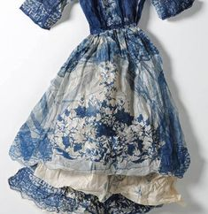 "Bohemian Indigo Dress ""I ♥ Blue #fashion #design"""