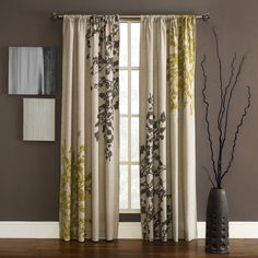 Kas Leura Window Curtain Panel - Bed Bath & Beyond, also use the lime green color for wall with tree