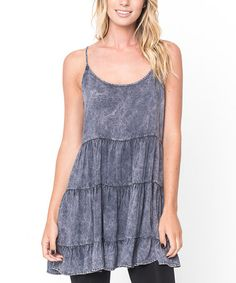 Loving this Charcoal Denim Layer Sleeveless Tunic - Women on #zulily! #zulilyfinds