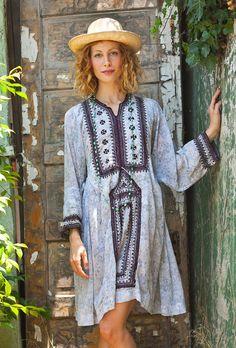 My Blue  Summer Afghani Dress. Shop Tavin online & get 5% Off with discount code 5OFFAUGUST @ www.etsy.com/shop/TavinShop