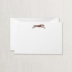 Engraved Equestrian Correspondence Card