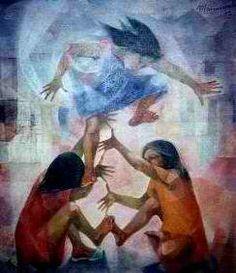 Luksong Tinik by Vicente Manansala Philippine Art. Art by Filipino Philippines Culture, Philippines Travel, Artists Like, Various Artists, Filipino Art, Philippine Art, Filipiniana, Spanish Artists, Cubism