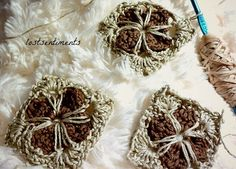 lostsentiments: Cathedral Motif - Granny Square Crochet - Free Pattern
