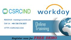 #WORKDAY #COURSE #ONLINE #TRAINING @#Csrcind  http://csrcind.com/online-training/workday/  Visit the above link for course details:  Interested in joining  Pls Contact us or email us:  Call  : +91- 7207743377  MAIL: csrcind.hyd@gmail.com  Website URL: http://csrcind.com/