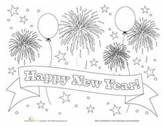 Worksheets Happy New Year Coloring More Information Printable Newyear 2016 Pages