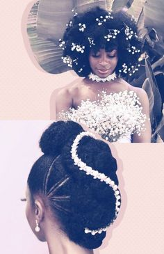 "'s african wedding hair styles black bride Photo. Pinned in ""Wedding! See the bigger picture! African Wedding Hairstyles, Natural Afro Hairstyles, Wedding Hairstyles For Long Hair, Natural Hair Styles, Long Hair Styles, Amazing Hairstyles, Bridal Hairstyles, Protective Hairstyles, Girl Hairstyles"