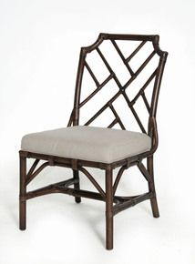 Bamboo Chippendale Side Chair in Mahogany
