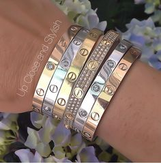 LOVE it This is my dream cartier jewelry-fashion cartier jewelry! Click pics for best price ♥cartier jewelry♥ guys we can rock this look out. Cartier Bracelet, Cartier Jewelry, Jewelry Watches, Jewelry Accessories, Fashion Accessories, Jewelry Design, Fashion Jewelry, Love Bracelets, Bangle Bracelets