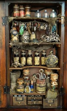 witches potion cabinet Halloween