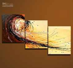 Wholesale Art Modern Abstract Oil Painting Multiple Piece Canvas Art Sets 3 Pieces Cool Artwork 50x60cm x3 Hot, Free shipping, $39.71-52.44/Set | DHgate