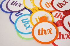 Newest item: Rainbow Thank You Favor Tags Set of 20