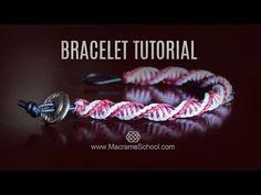 DNA Spiral Bracelet Tutorial [DIY Double Helix] Macrame School - YouTube