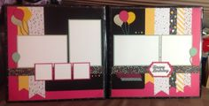 It's my party scrapbook layout