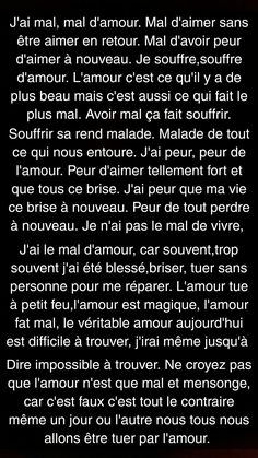 Text Msg, Cute Texts, Father Quotes, French Quotes, Bad Mood, Sad Love, Feeling Sad, The Words, True Facts