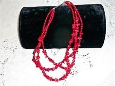 Vintage Red Coral Necklace....