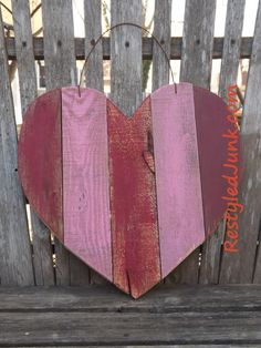 Scrap Wood Heart What a beautiful day! I've been itching to get outside and work with my wood and today was the perfect day. My wood is fairly organized since our move, it just isn't in…