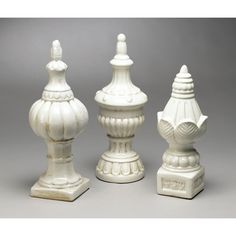 Found it at Wayfair - 3 Piece Finial Set Wood Carving Art, Stone Carving, Wood Art, Turned Table Legs, Dining Room Furniture Design, Temple Design For Home, Landscape Stairs, Cemetery Art, Prop Design