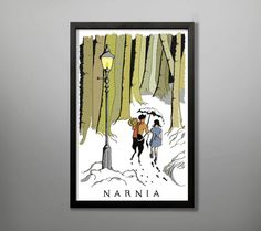 Narnia Travel Poster by BaytreeDesigns on Etsy