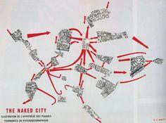 Guía psicogeográfica de París, Guy Debord, 'The naked city'. 1957.