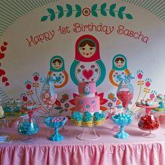 Dessert table babushka doll