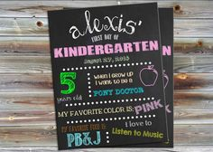 Hey, I found this really awesome Etsy listing at https://www.etsy.com/listing/200370790/custom-first-day-of-school-sign