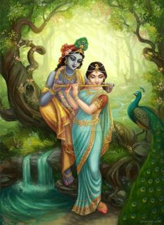 We have listed amazing radha krishna paintings alongwith portrait paintings of indian gods and goddess. If you take a look at the ancient indian paintings, they mostly portrayed the stories of gods Krishna Flute, Jai Shree Krishna, Radha Krishna Photo, Radha Krishna Love, Radhe Krishna, Radha Rani, Krishna Leela, Lord Krishna Images, Radha Krishna Pictures